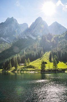 Lake Gosau, Austria © marin tomic #austria #upperaustria #gmunden #lakegosau #summer #swimming #nature #visitaustria