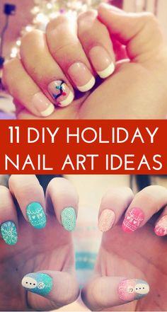 DIY holiday nail art