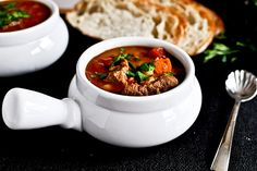 Tasty Kitchen Blog: Beef Barley Soup. Guest post by Jessica Merchant of How Sweet It Is, recipe submitted by TK member Terri of That's Some ...