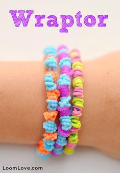 How to Make a Rainbow Loom Wraptor Bracelet #rainbowloom
