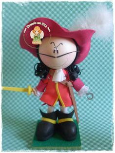Fofucha on pinterest manualidades doll eyes and doll - Peter pan et capitaine crochet ...