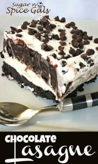Yummy Chocolate Lasagna. Tastes great but don't like the name. How about Oreo Goodness?