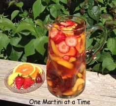 Peach Hibiscus Sangria - left out the hibiscus, and used white grape peach juice - sooooo yummy! Goes down fast!