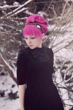 books, hair colors, winter, pink hair, outfit, write a book, hair bangs, beauty, black