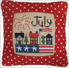 July 2011 Small Pillow Kit - Cross Stitch Kit
