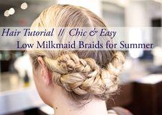 how-to cute braided hair styles -low milkmaid braid