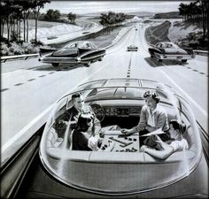 Electric Super Highway Detail from advert by Americas Independent Electric Light and Power Companies