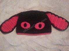 Evil Bunny Beanie Hat Crochet Pattern free hat crochet pattern from cRAfterChick.com