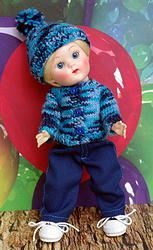"Everything's Better in Blue! for Vogue 7.5"" Vintage or Vintage Reproduction Ginny, Muffie, or Madame Alexander Boy Dolls. One set in stock and it's adorable!"
