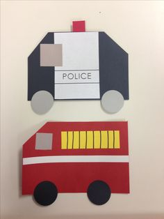 Police car and firetruck