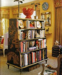 Just love this unusual bookshelf.
