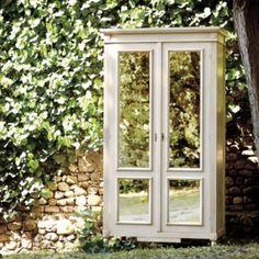 Louis XVI Armoire with Antique Mirrored Doors   European-Inspired Home Decor   Ballard Designs