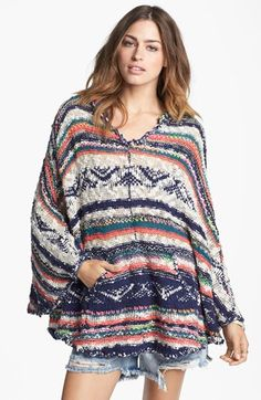 Free People 'Bubble Tea' Poncho available at #Nordstrom   $168.00