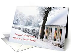 Season's Greetings from our new home - new... | Greeting Card Universe by Porto Sabbia Studios