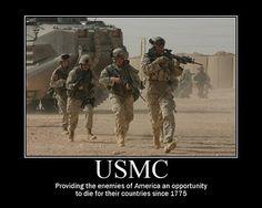 USMC provides a service...
