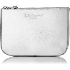 L.K. Bennett Kizzy Metallic Leather Cosmetic Bag found on Polyvore