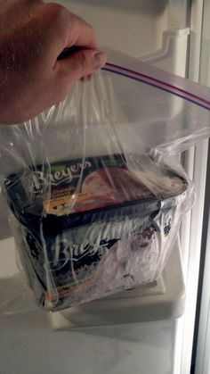 Who knew?  Put ice cream in a zipper bag to keep it soft and easy to scoop.