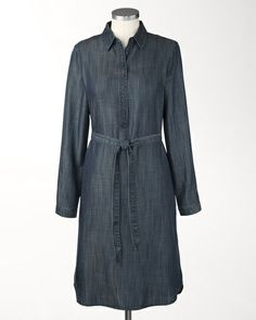 Tencel® shirt dress | Coldwater Creek