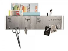 Stainless Steel Dry Erase Board and Caddy