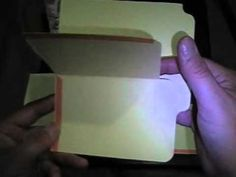 #papercraft #scrapbook - video #tutorial - really easy multi-foldout #minialbum - File Folder Pocket/Tag pages: made from one manila file folder