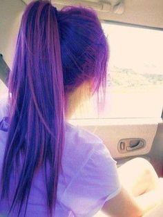 Purple hair || via #tumblr #hair