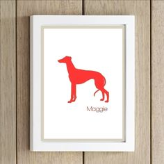 Personalized Dog Silhouette Prints