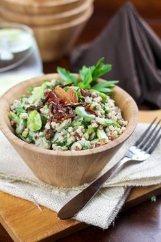 Creamy Buckwheat, Fava Bean and Sun Dried Tomato Salad. Buckwheat is an excellent alternative to grains.  This gluten-free option is also very delicious! Carol-Egan.com #CarolEgan #ImmersionHealth #Quinoa #GlutenFree #GlutenFreeGrains #GlutenFreeFlours #CleanEating #HealthyEating #HealthyDieting #Health #Diet #HealthDiet #GlutenFreeRecipes #GlutenFreeCooking,