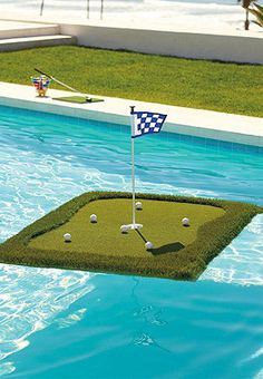 Who doesn't want a Floating Golf Green!