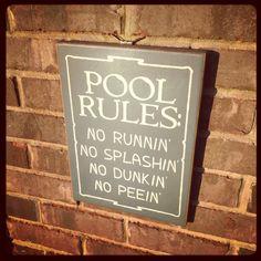 Pool sign!