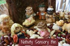 sensori bin, sensory tubs, sensory bins, christma idea, nativity crafts, happi hooligan, christma craft, nativ sensori, sensori tabl