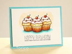 STAMPARADISE: Mama Elephant Stamp Highlight : Carnival Cupcakes
