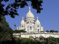 Sacre-Coeur | Paris | The Basilica of the Sacred Heart of Paris | is a Roman Catholic church and minor basilica | dedicated to the Sacred Heart of Jesus | A popular landmark | the basilica is located at the summit of the butte Montmartre | the highest point in the city |