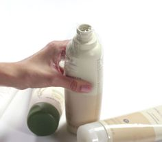 To keep shampoo and conditioner from spilling in your suitcase