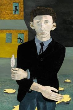 Man with a Feather - Lucian Freud