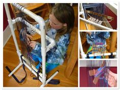 PVC Pipe Weaving Loom