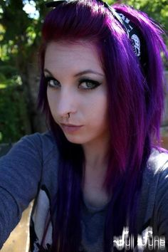 #purple #hair