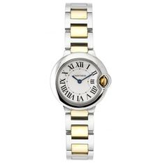 Cartier Women's W69007Z3 Ballon Bleu Stainless Steel and 18K Gold Watch: Buy now best watches for anniversary