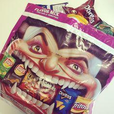 Halloween food ideas - Vampire chips