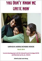 You Don't Know Me Until Now:  Latino Middle School Voices - reading essays and poems about their lives in the US.