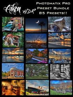 """How'd you do that?"" is a common question we field with our HDR photography. Today, we're excited to provide a little piece of the answer. Aiken HDR proudly brings to you A HUGE Bundle of Photomatix presets that we use the most! That's right, these are from our personal collection! …"