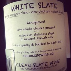Fantastic white wine from British Columbia. #bcwine