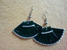 Recycled coffee capsule earrings