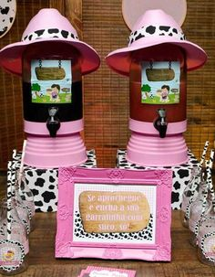 Drink station at a Farm Girl Birthday Party!  See more party ideas at CatchMyParty.com!