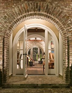Lovely arched brick entrance
