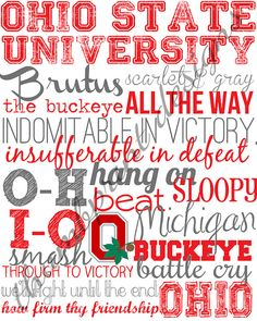 ohio state university subway art digital file by ThumbprintDesign, $10.00