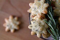 Savory Rosemary Parmesan Cookies