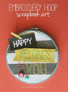 Happy-Embroidery-Hoop-Art scrapbook crafts, craft supplies, the craft, craft stores, american crafts