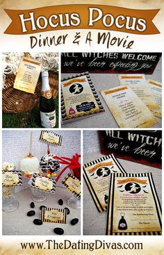 Hocus Pocus themed Dinner & a Movie with a FREE download for all the fun printables.  The flirty love spell book is my favorite.  Hubby's gonna loooove me!