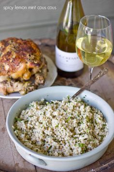 Spicy Lemon Mint Cous Cous. Wow your guests with an addictive, delicious side that doesn't tie you to the kitchen, and enjoy time sipping your favorite La Crema wines instead!