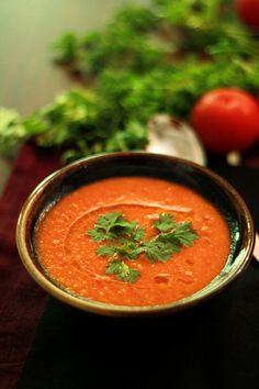 Creamy Roasted Tomato Soup #Recipe. #Vegan; #Glutenfree for #celiac #coeliac.